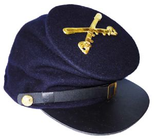Union Blue Forage Cap With Cavalry Badge